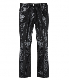 HELMUT LANG - PATENT CROPPED FLARE PANTS