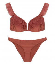 CORSAIR SHOULDER FRILLED BIKINI