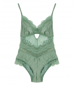 LOVELORN LACE ONE-PIECE IN MINT