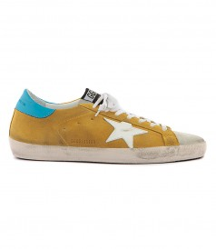 SHOES - SUPERSTAR SNEAKERS IN YELLOW FT BLUE STAR