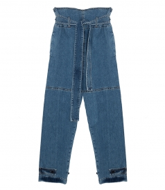 HIGH WAISTED COTTON JEANS