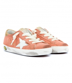 SUPERSTAR SNEAKERS IN PEACH SUEDE