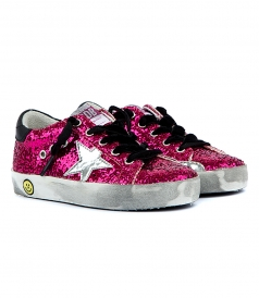 SUPERSTAR SNEAKERS IN PINK SEQUIN