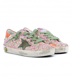 SUPERSTAR SNEAKERS IN MULTICOLORED GLITTER