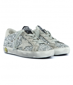 SUPERSTAR SNEAKERS IN SILVER GLITTER