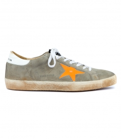 SHOES - SUPERSTAR SNEAKERS IN LIGHT GREY FT ORANGE STAR