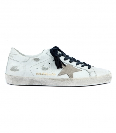 SUPERSTAR SNEAKERS FT FLOWER EMBOSSED DETAILS