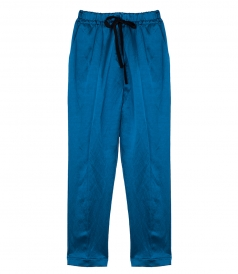 CLOTHES - CHIC SATIN JOGGING PANTS WITH DRAWSTRING