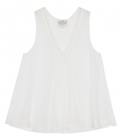 CLOTHES - VOILE TANK TOP WITH LACE DETAILS