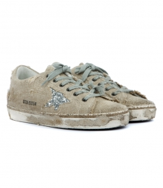 SUPERSTAR SNEAKERS FT SILVER GLITTER COATED STAR