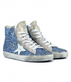 FRANCY SNEAKERS IN LIGHT BLUE GLITTER