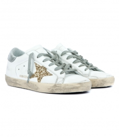 SUPERSTAR SNEAKERS FT GOLD GLITTER COATED STAR