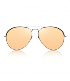 d25f8dd9143e LINDA FARROW - NICKEL GOLD AVIATOR SUNGLASSES