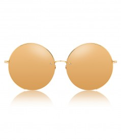 ACCESSORIES - GOLD ROUND FRAMED SUNGLASSES