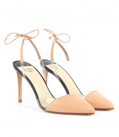 TIE BACK NUDE PUMPS