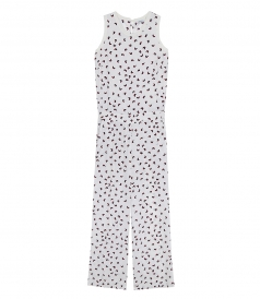 BUTTERFLY PRINT SLEEVELESS JUMPSUIT