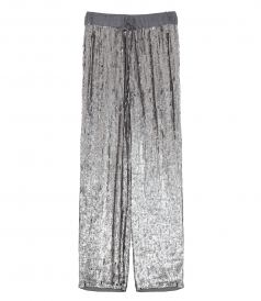 CLOTHES - SEQUIN STRAIGHT-LEG TROUSERS
