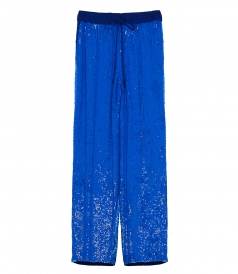SEQUIN STRAIGHT-LEG TROUSERS