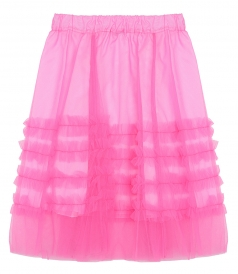 RUFFLE TULLE A-LINE SKIRT