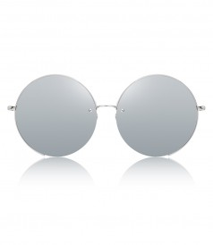 30e5fd8d2628 WHITE GOLD ROUND FRAMED SUNGLASSES