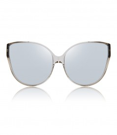 OVERSIZED CAT-EYE TRANSPARENT SUNGLASSES