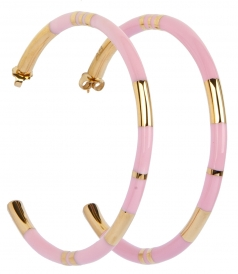 ACTUA POSITANO HOOP EARRINGS IN BABY PINK