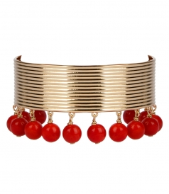 AURELIE BIDERMANN  - ANA CUFF FT RED CHARM STONES