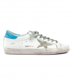 SUPERSTAR SNEAKERS FT ICE BLUE HEEL COUNTER