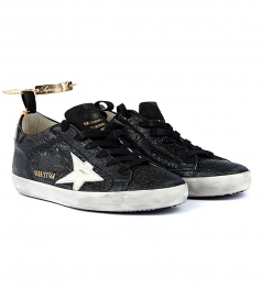 SUPERSTAR SNEAKERS IN BLACK METALLIC