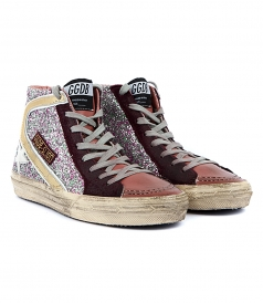SLIDE SNEAKERS CYCLAMIN GLITTER FT WHITE STAR