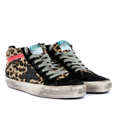 MID STAR SNEAKERS IN LEOPARD HORSY LEATHER