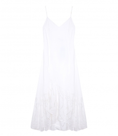 SALES - WHITE LEMA LONG DRESS