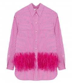 FEATHERED CHECKED SHIRT