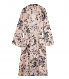 COATS - FLORAL WRAP COAT