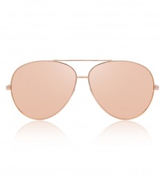 ACCESSORIES - TOP RIM ROSE GOLD METAL AVIATOR SUNGLASSES