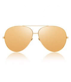 ACCESSORIES - TOP RIM YELLOW GOLD METAL AVIATOR SUNGLASSES