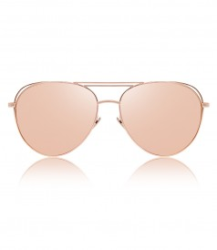 ROSE GOLD 575 C3 AVIATOR SUNGLASSES WITH FLOATING EFFECT