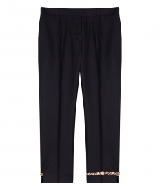 CLOTHES - NOTCHED HEM LOW RISE TROUSER