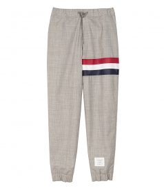 STRIPE WOOL SWEAT PANTS