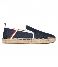 THOM BROWNE NEW YORK - THICK WELT DENIM ESPADRILLES