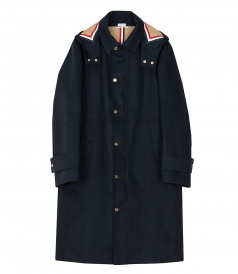 DETACHABLE HOOD SNAP FRONT PARKA
