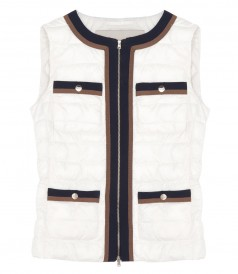 VEST JACKETS - COLLARLESS PADDED GILET