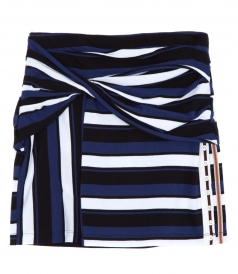 STRIPED WRAP FITTED MINI SKIRT