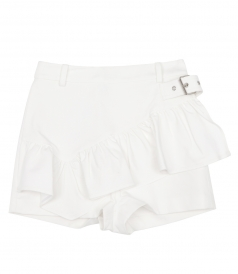 SHORTS WITH RUFFLE APRON