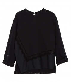 TOPS - EMBROIDERED LONG-SLEEVE TOP