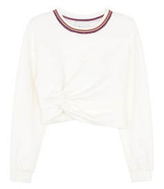 TOPS - TWISTED CROP SWEATER