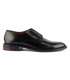 DERBY LACE-UP SHOES IN SOFT SPAZZOLATO