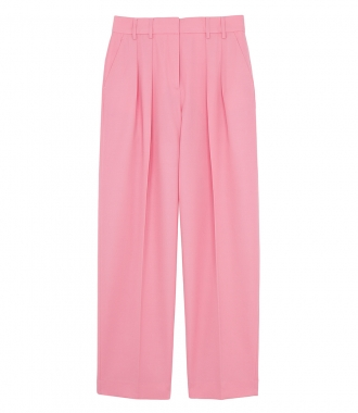 VICTORIA, VICTORIA BECKHAM - TWO PLEAT PINK PANTS