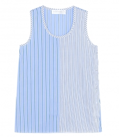 CLOTHES - HALF STRIPED TANK TOP