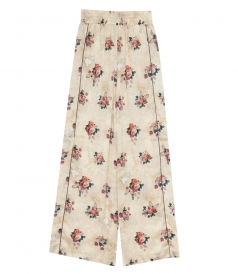 CLOTHES - SOPHIE WIDE LEG FLOWER PRINT TROUSERS